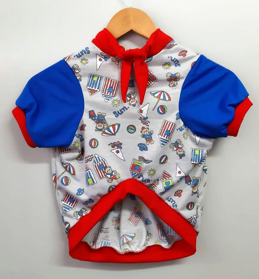 Cotton Sleepshirt Bear Prints with Red Necktie. Choose your size.