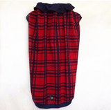 Christmas Plaid Red/Navy Blue  Male Pajamas for Pets