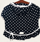 Navy Blue Polka Dot Hoodie for Pets