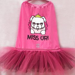 Custom Bulldogs Mascots Princess Tutu Dress UAUH DOGS