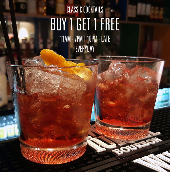 Buy 1 Get 1 Free on Classic Cocktails