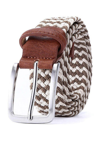 TRS - Ceinture Tresse 105 Brown White