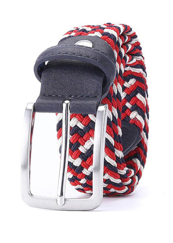 TRS - Ceinture Tresse 105 Red Navy White