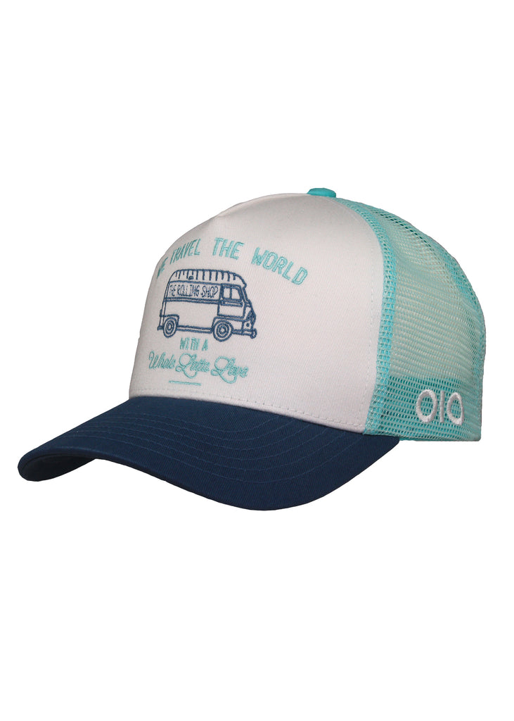 Morning Glory x The Rolling Shop - Casquette Travel the World Cyan/ Bleu canard