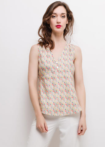 Top Lin Viscose Pastel Summer