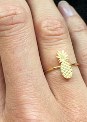 Bague Ananas Or