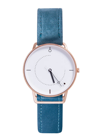 Shammane - Montre Uranus Or rose/ Blanc
