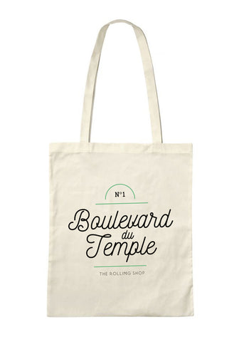 The Rolling Shop - Tote Bag Bd du Temple