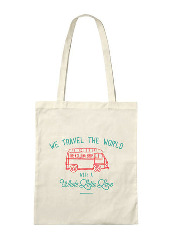 The Rolling Shop - Tote Bag Travel The World