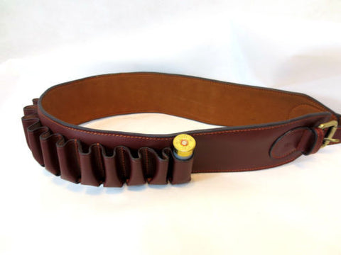 12 GAUGE LEATHER CARTRIDGE BELT 25 SHELLS