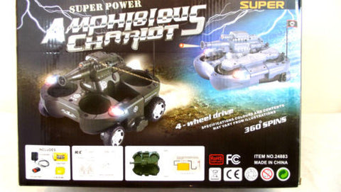 4 WHEEL DRIVE TRANSFORMER AMPHIBIOUS TANK WITH CANNON FIRES 6MM BB BULLETS - Woodlands Enterprises Ltd