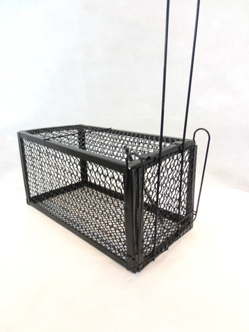 2 x Med Rat / Mouse Live Catch Spring Cage Trap