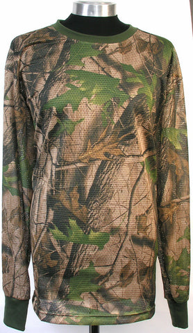 New breathable Camo Mesh shirt 100% Cotton