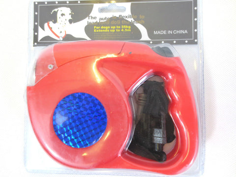 New Retractable Expendable Flash Light Auto Tape Cord Dog Lead