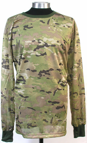 New breathable Camo Mesh shirt 100% Cotton Camo xxl, Combat, Crew Neck, Long