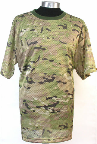 New breathable Camo Mesh T shirt 100% Cotton Camouflage, Combat,Loose Fit,Crew N
