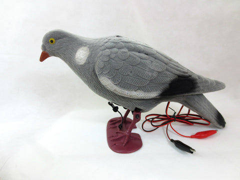 DECOY PIGEON FLOCKED ELECRTONIC 12v PIGEON VERY EFFECTIVE PECKS LIKE FEEDING