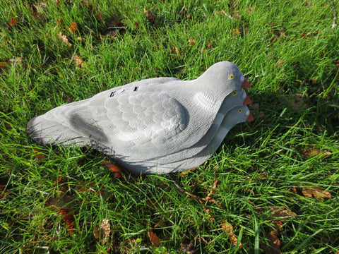 6 X FLOCKED PIGEON DECOY SHELL SHOOTING decoying PACK