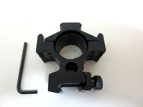 30mm Diameter Double Ring with 20mm Weaver Rail Tactical Alumiuium Alloy Black S - Woodlands Enterprises Ltd
