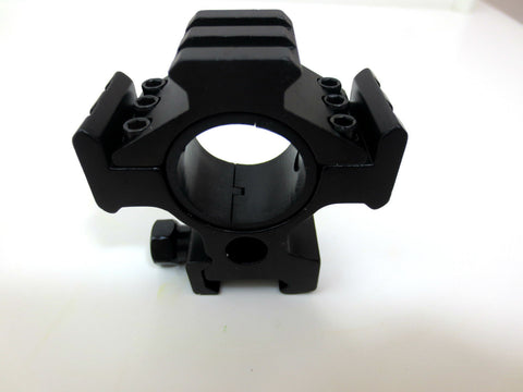 30mm Diameter Double Ring with 20mm Weaver Rail Tactical Alumiuium Alloy Black S