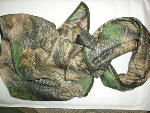 MILITARY SCRIM NET TACTICAL SCARF WOODLAND CAMO 180cmx 80cm - Woodlands Enterprises Ltd