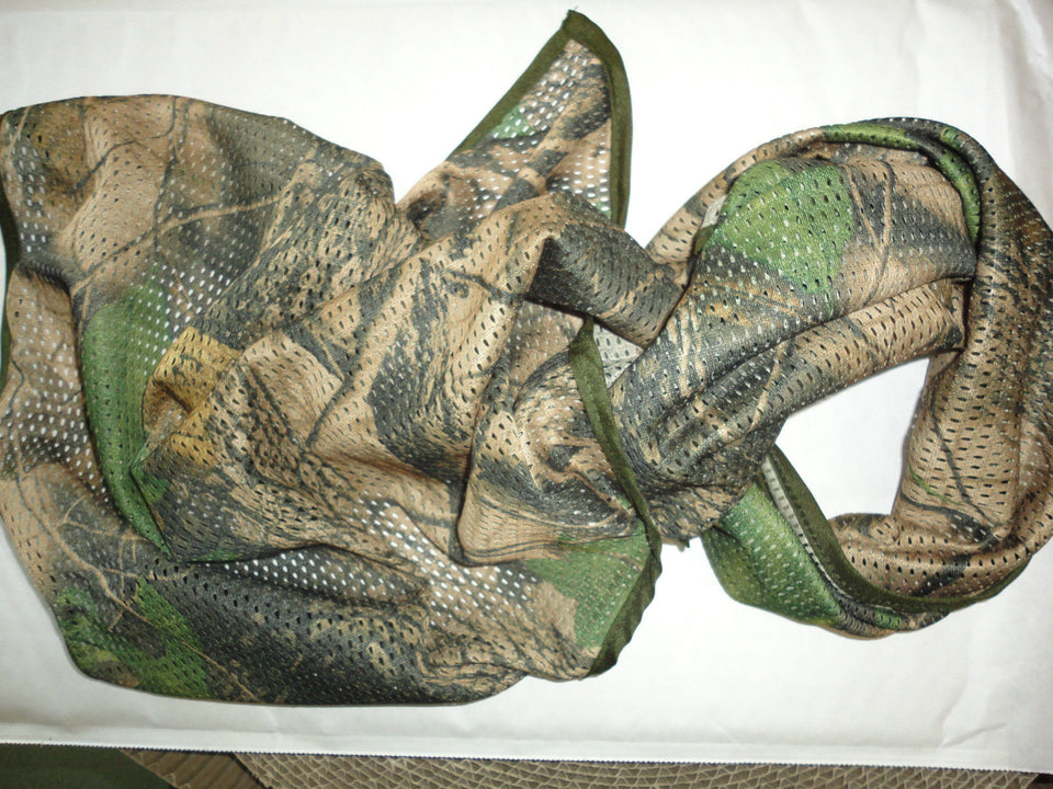 MILITARY SCRIM NET TACTICAL SCARF WOODLAND CAMO 156cmx45cm