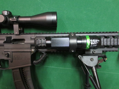 Cree Smart chip Dialable ZOOM scope mount light lamping kit hunting for rifles