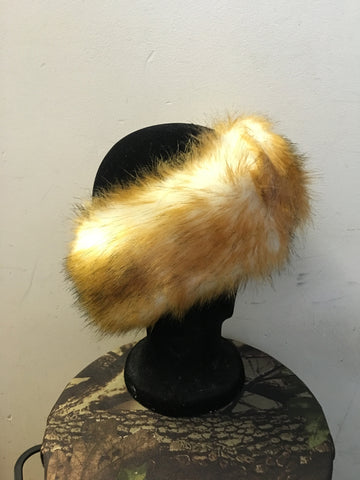 FAUX FUR HEADBAND (BROWN)