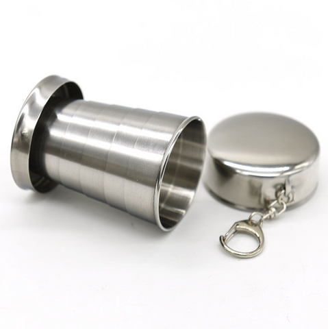 Collapsable Stainless Steel shot cup 7 cm