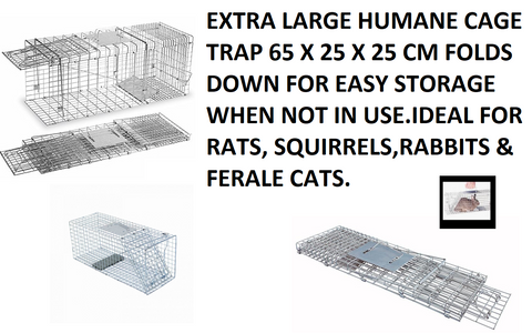 EXTRA LARGE Humane Animal Rodent Rat Rabbit Squirrel Cat Pest Trap Cage - Woodlands Enterprises Ltd