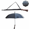Big Canopy Gun Handle Novelty Umbrella Brolly shooting Golf sporting
