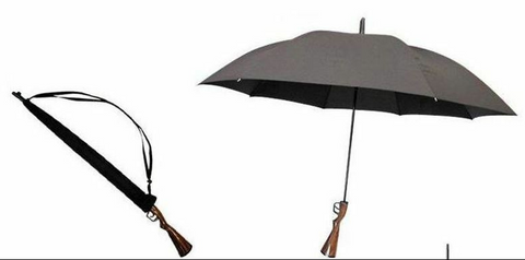Big Canopy Gun Handle Novelty Umbrella Brolly shooting Golf sporting - Woodlands Enterprises Ltd