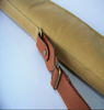 Leather and canvas Rifle slip wide top and fore end for a big scope and Bi Pod