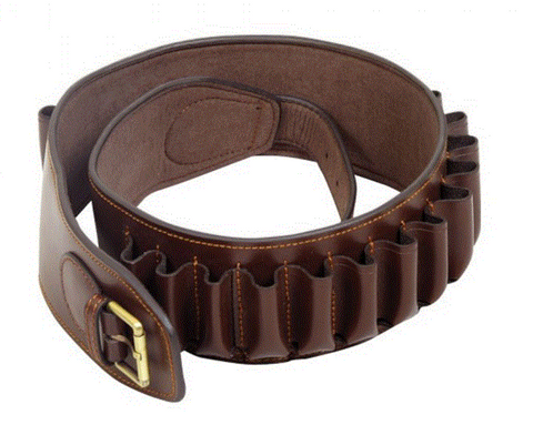 Leather Heritage shotgun cartridge belt 20g