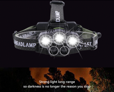 NB 90000LM 5X T6 LED Headlamp Rechargeable Headlight Light Flashlight Head Torch - Woodlands Enterprises Ltd