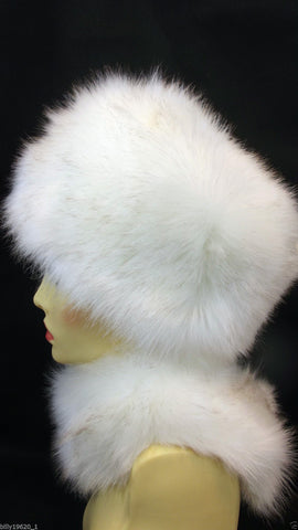 Faux Fur Hat (White)