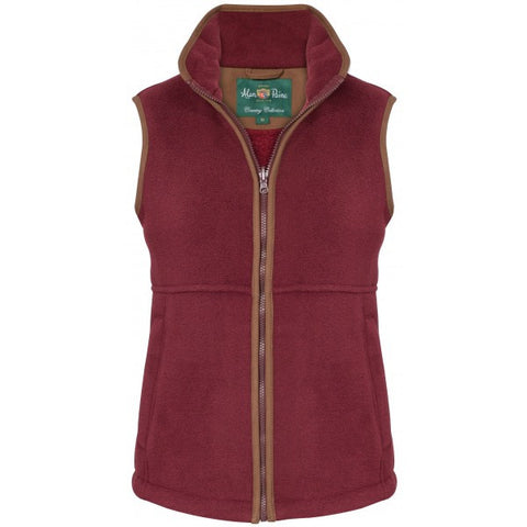ALAN PAINE AYLSHAM LADIES FLEECE WAISTCOAT - CLASSIC FIT