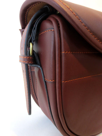 DARK BROWN LEATHER CARTRIDGE BAG,100-125 CARTS