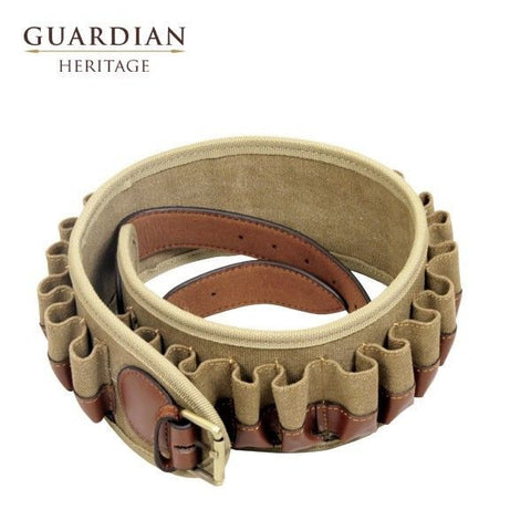 Guardian Heritage Leather & Canvas Cartridge Belt (12or20g)