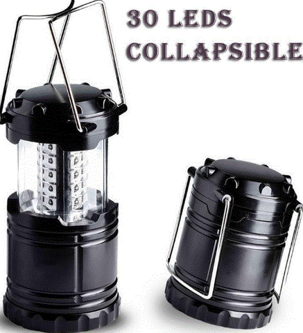 2 X 150 lm COB LED Collapsible Compact Camp Lantern Fishing Lamp Portable Light