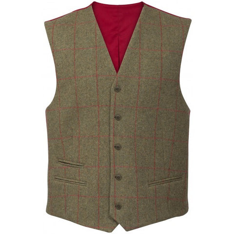 ALAN PAINE COMPTON MENS TWEED LINED BACK WAISTCOAT - CLASSIC FIT - Woodlands Enterprises Ltd