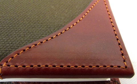 Leather and canvas Game register hand made