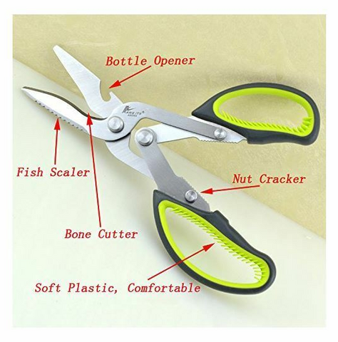 Game Scissors Shears kitchen scissors tools camping hunting fishing - Woodlands Enterprises Ltd