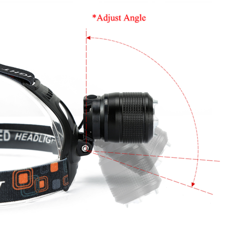 LED Headlight Torch T6 Headlamp Head Light Lamp Rechargeable USB Zoom GOLD