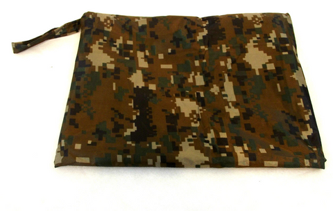 ARMY SPEC WATERPROOF HOODED PONCHO BASHA FESTIVAL FLECK-TARN  CAMO + carry Bag - Woodlands Enterprises Ltd