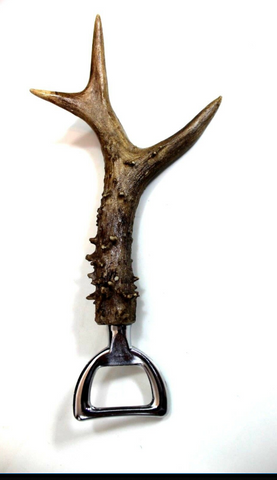 Real Deer roe buck Stag Antler Bottle Opener,wine stopper combo Bar, Unique Gift