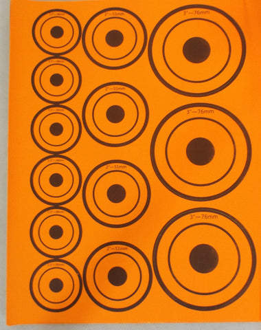 Dayglo self-adhesive targets 130 pk