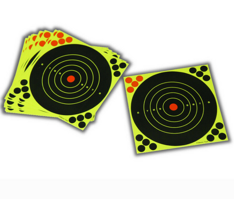 "STRIKE AND SEE 12"" adhesive targets 25pk"