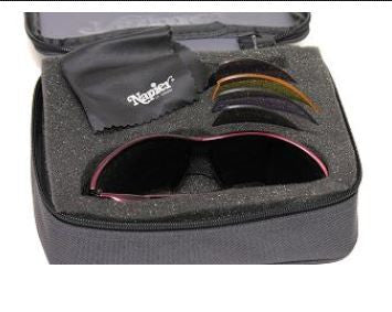 A1000 Burgundy or Matt Black Frame with case and 5 lenses in set