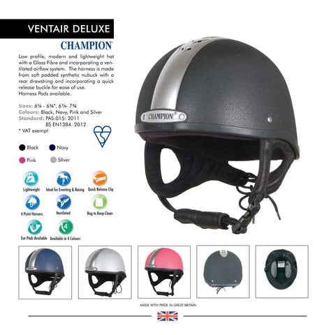 CHAMPION VENTAIR DELUXE HELMET - Woodlands Enterprises Ltd